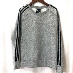 Adidas Three Stripe Sweatshirt Fleece
